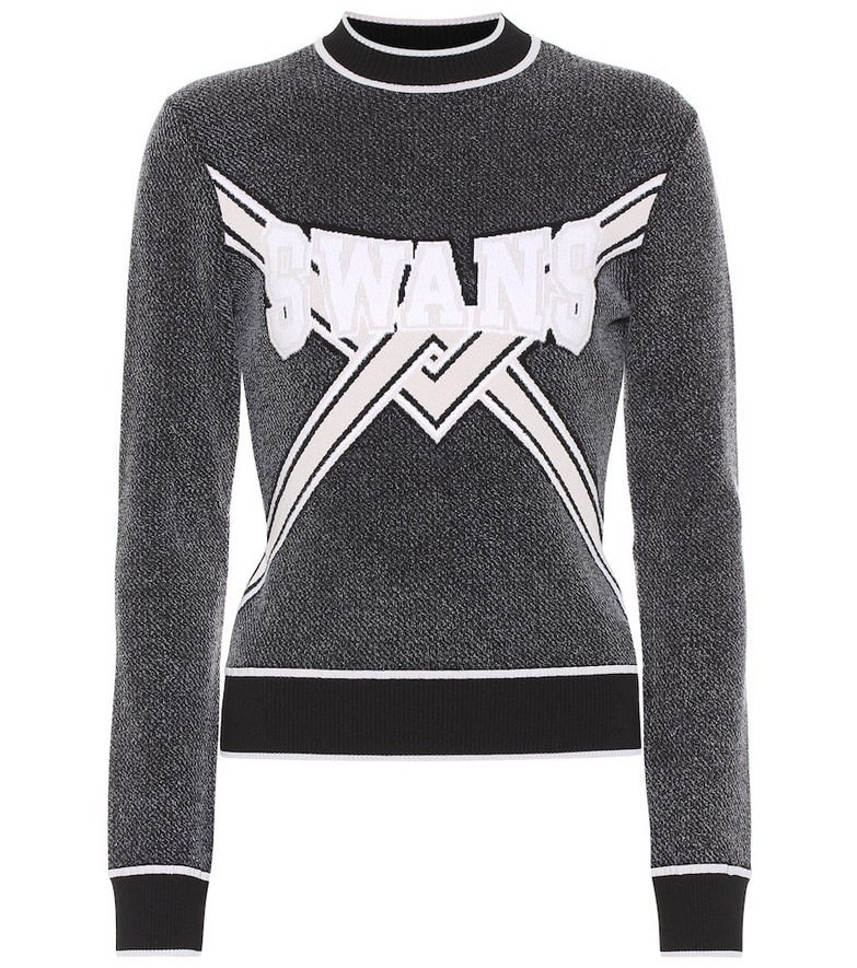 Off-White Embroidered sweater in black