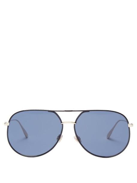 Dior Eyewear - Diorbydior Aviator Sunglasses - Womens - Dark Blue