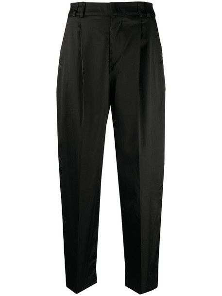 Pt01 cropped straight-leg trousers in black