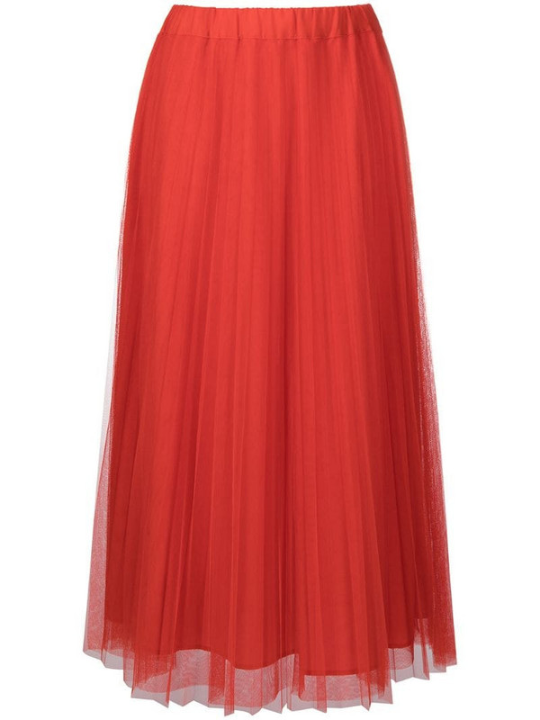 P.A.R.O.S.H. Parallel pleated skirt in red