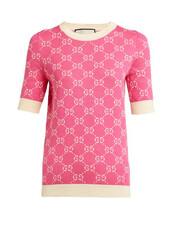 sweater,jacquard,white,cotton,pink
