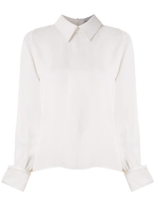 Gloria Coelho pointed collar shirt in white
