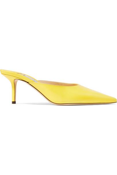 Jimmy Choo - Rav 65 Leather Mules - Yellow