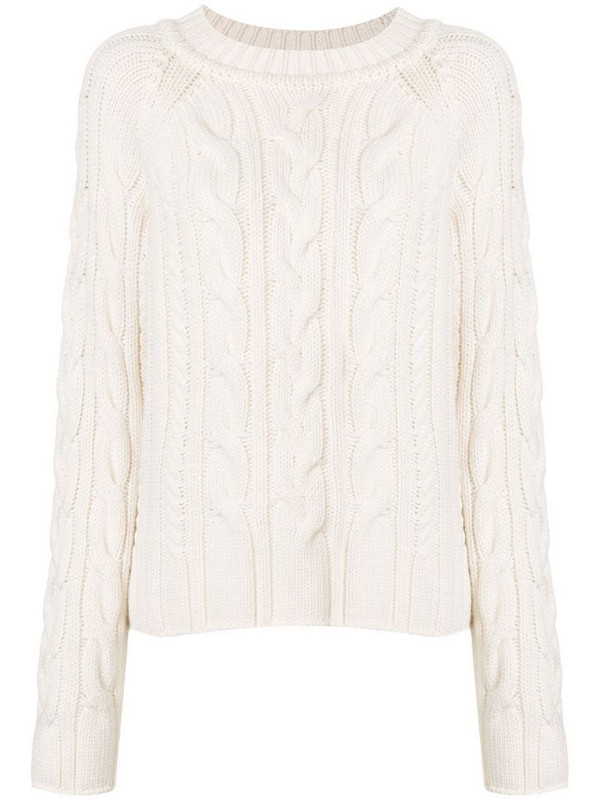 Goen.J cable knit jumper in white