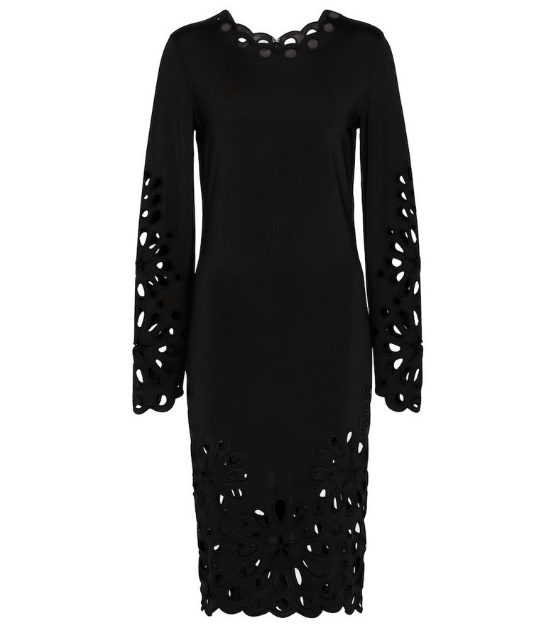 Burberry Broderie anglaise midi dress in black