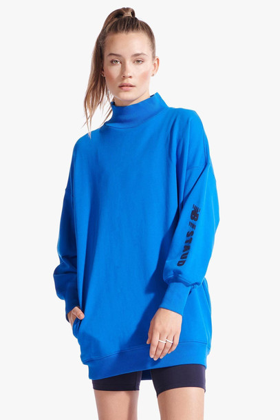 Staud SWEATSHIRT DRESS | BRIGHT BLUE