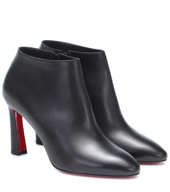 Christian Louboutin Eleonor 85 leather ankle boots in black