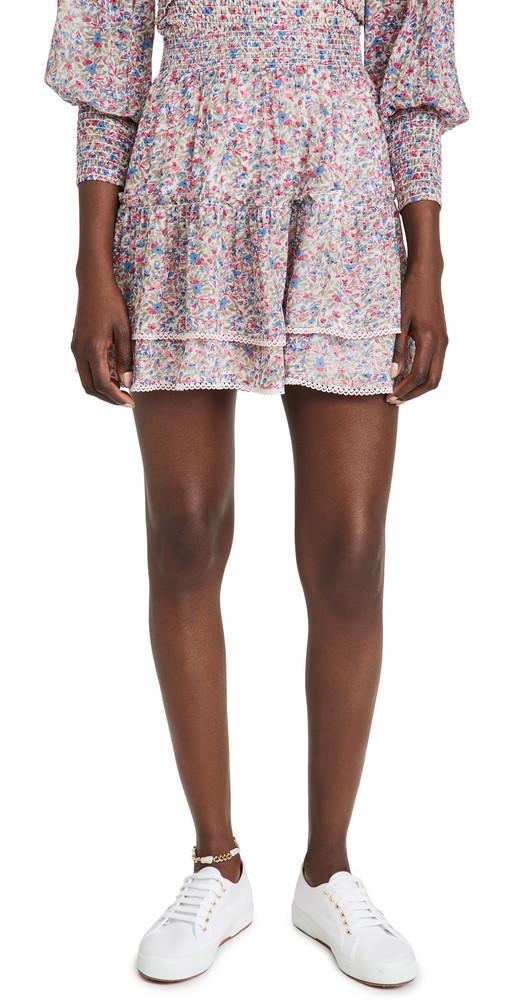 BB Dakota Ruffle Mini Skirt in multi