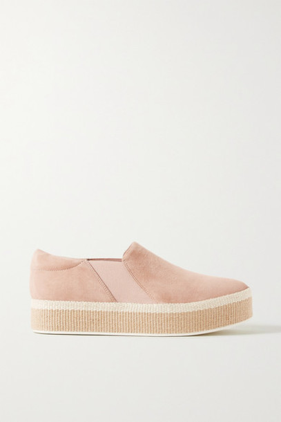 Vince - Wilden Suede Espadrille Slip-on Sneakers - Sand