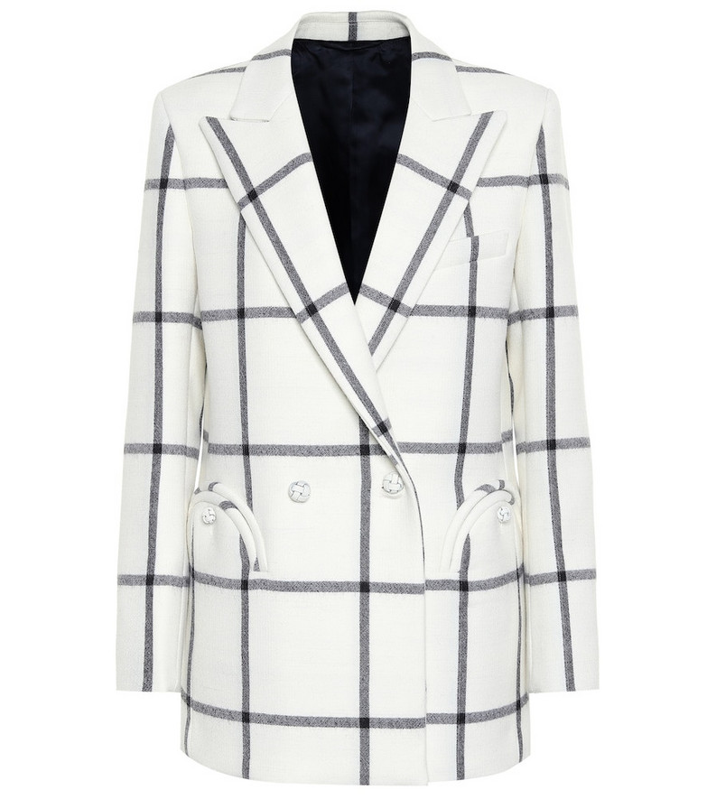 Blazé Milano Everyday checked wool blazer in white