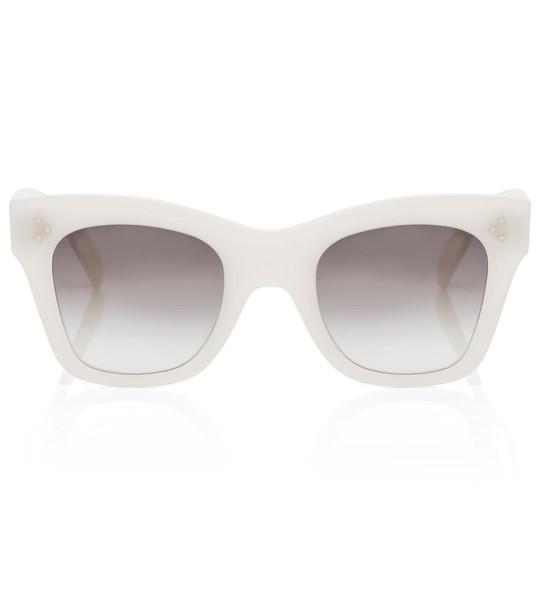 Celine Eyewear Cat-eye acetate sunglasses in white