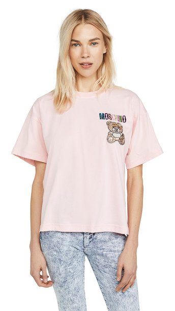 Moschino Small Bear T-Shirt in pink / print
