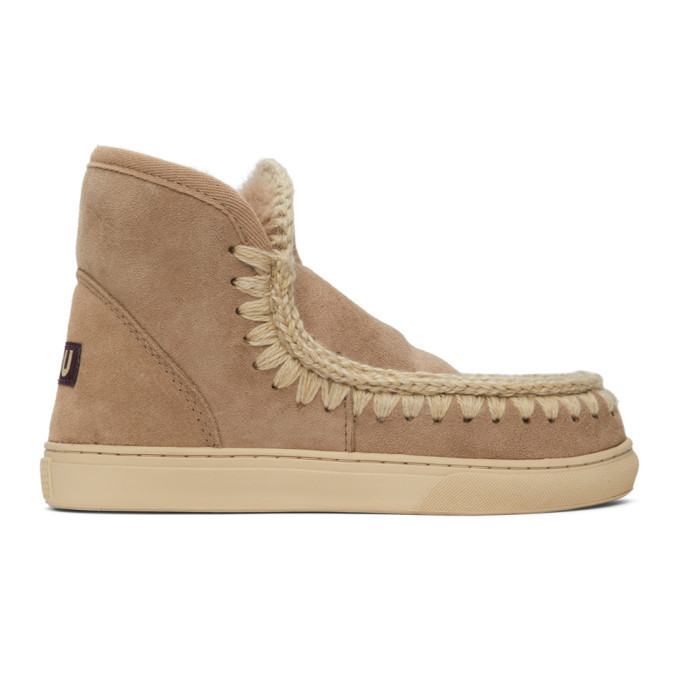 Mou Taupe Sneaker Boots in camel