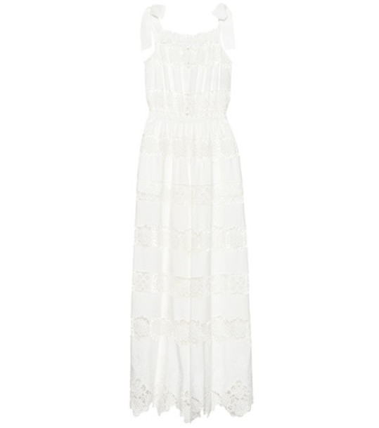 Dolce & Gabbana Wide-leg lace jumpsuit in white