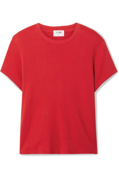 RE/DONE - 70s Supima Cotton-jersey T-shirt - Red