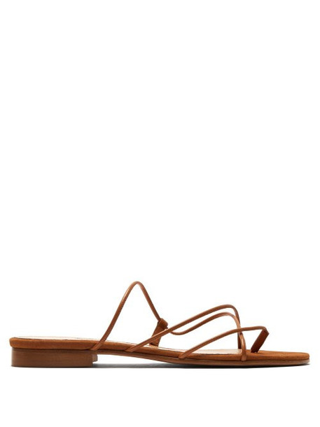 Emme Parsons - Chris Suede And Leather Sandals - Womens - Tan