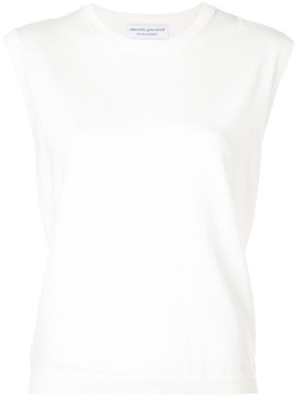 Alexandra Golovanoff Ele loose top in white