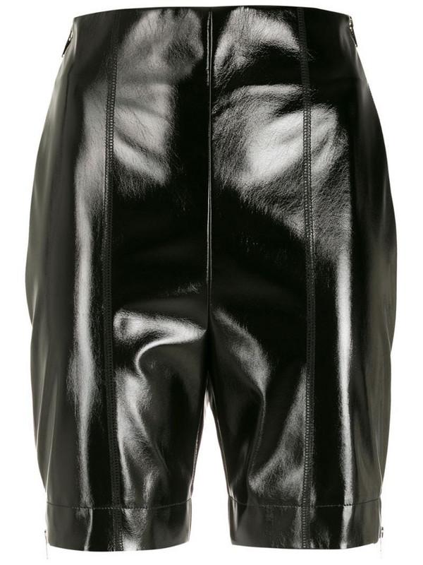 Gloria Coelho side zip biker shorts in black
