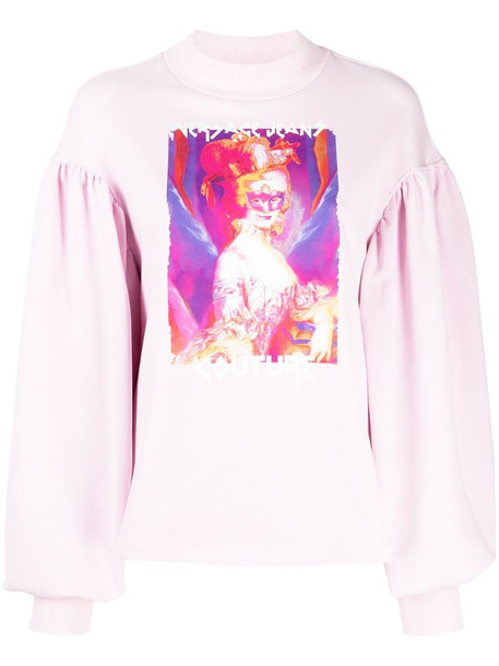 Versace Jeans Couture logo-print sweatshirt in pink