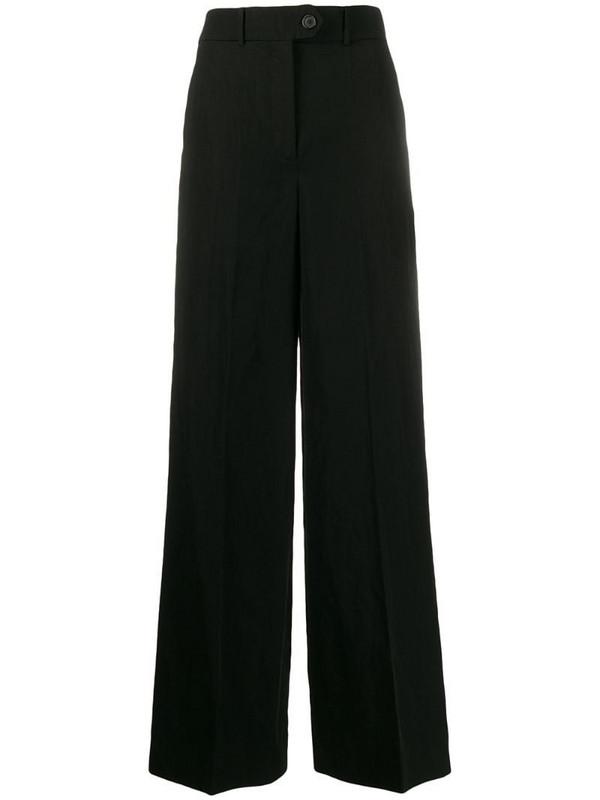 Zanini high-rise wide-leg trousers in black