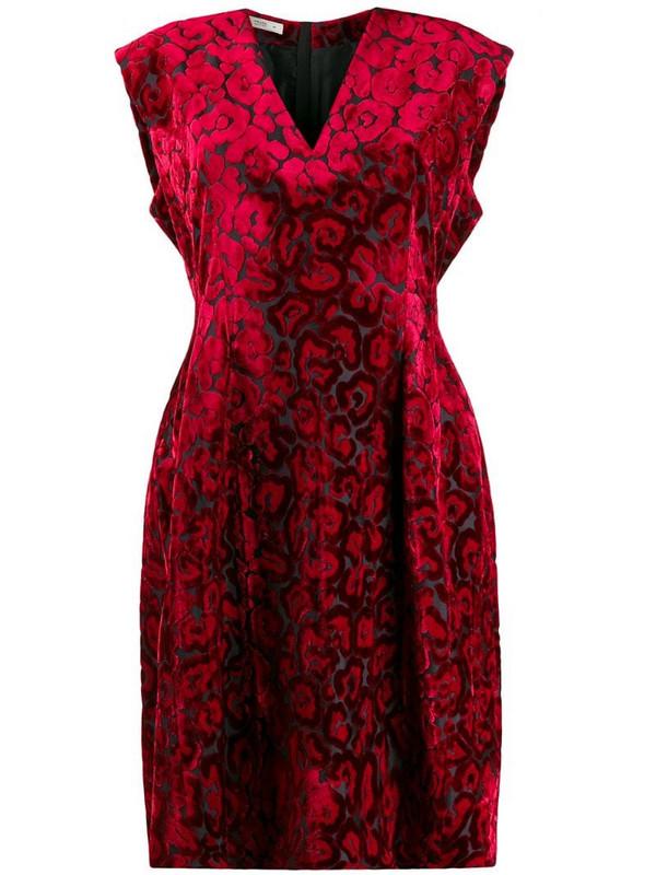 Prada Pre-Owned 2000's leopard pattern dress in red