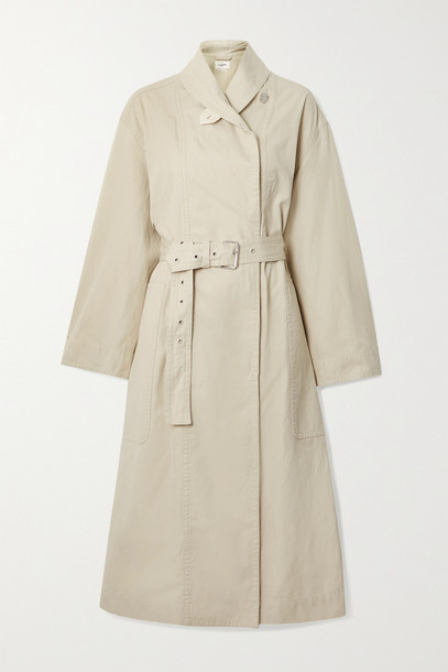 ISABEL MARANT ÉTOILE - Peter Oversized Belted Cotton And Linen-blend Trench Coat - Ecru