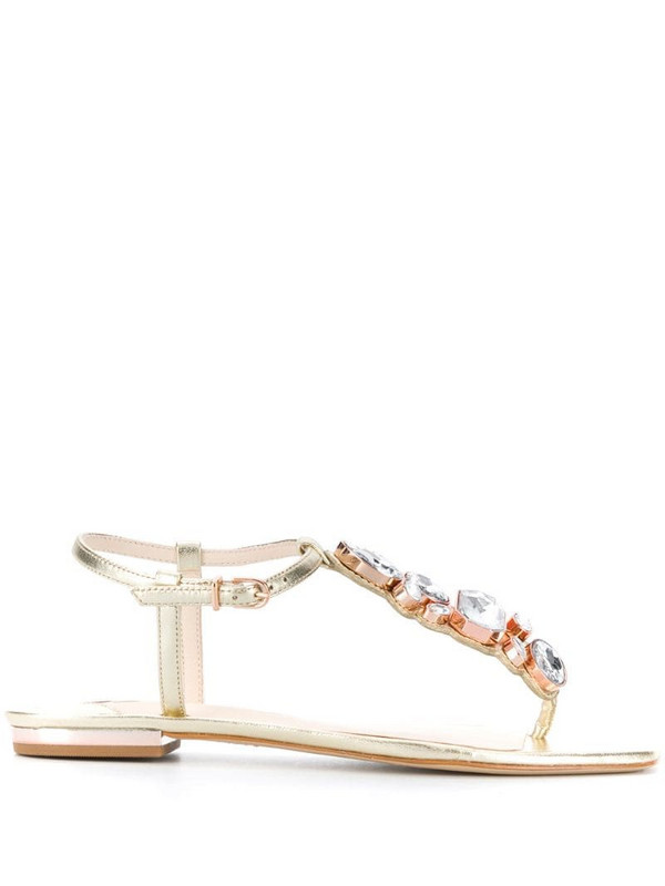 Sophia Webster Ritzy flat 10mm sandals in gold