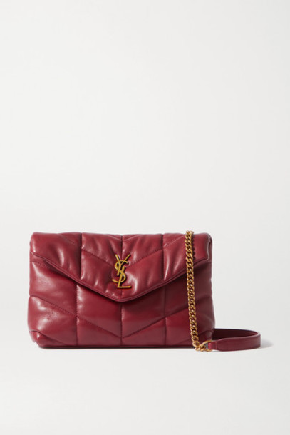 SAINT LAURENT - Loulou Toy Quilted Leather Shoulder Bag - Red
