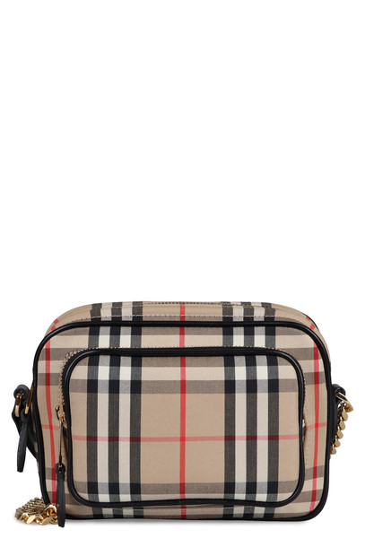 Burberry Check Canvas Camera Bag in beige