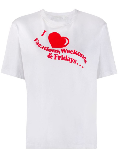 Victoria Victoria Beckham I Heart Weekends print T-shirt in white
