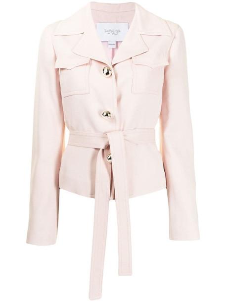 Giambattista Valli tie-fastening fitted jacket in pink