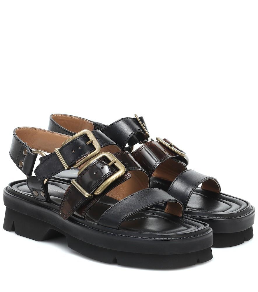 Dries Van Noten Leather sandals in black
