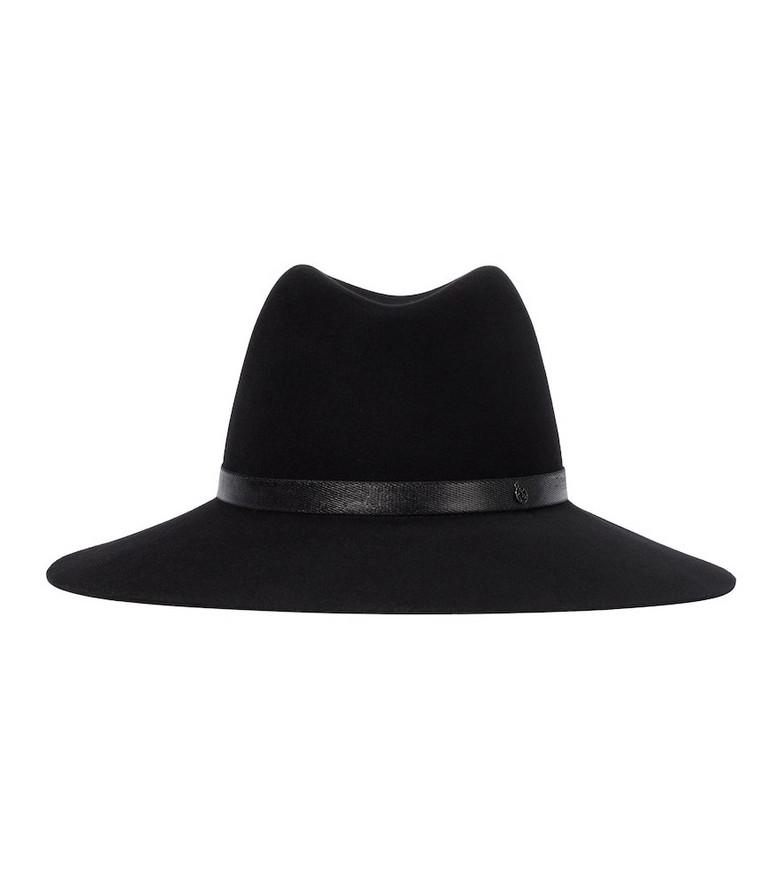 Maison Michel Kate wool felt fedora in black