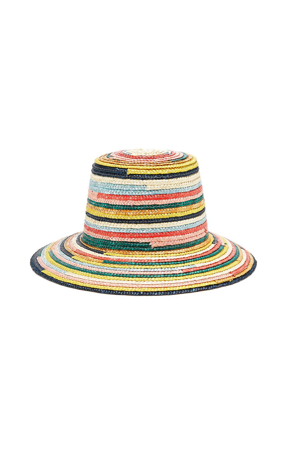 Eugenia Kim Stevie Striped Straw Hat in multi