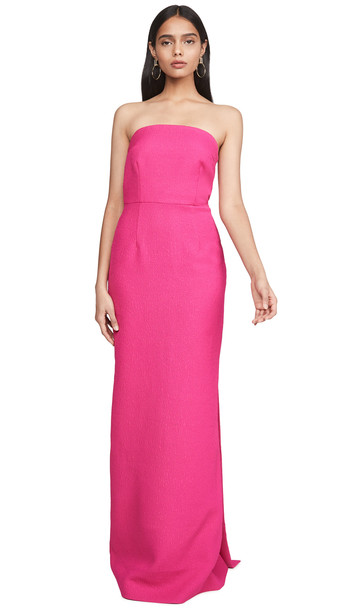 Rebecca Vallance Natalia Tie Gown in magenta