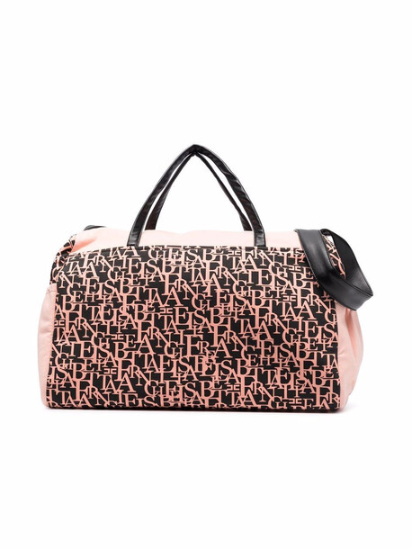 Elisabetta Franchi La Mia Bambina monogram-print changing bag - Pink