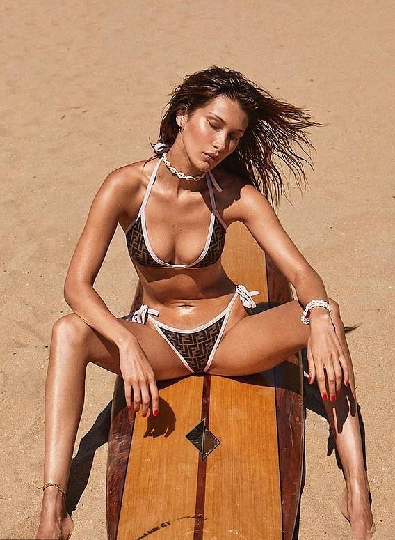 swimwear logo bella hadid model bikini bikini top bikini bottoms
