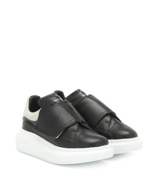 Alexander McQueen Kids Leather sneakers in black