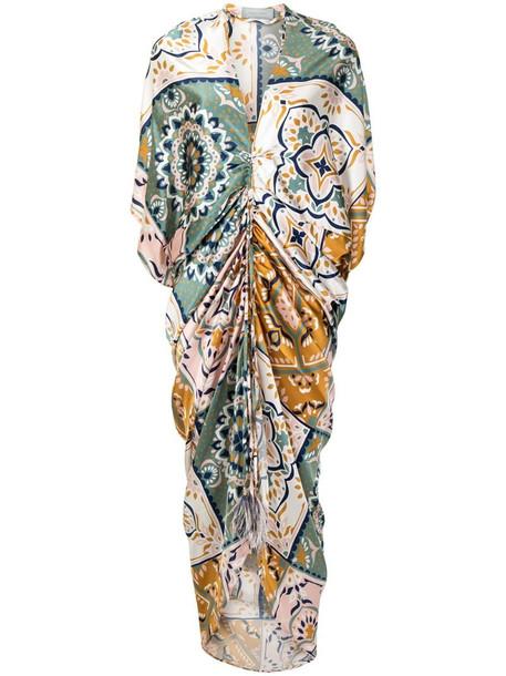 Silvia Tcherassi Cloister silk-blend maxi dress in green