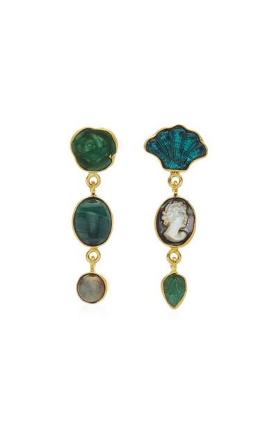 Grainne Morton Malachite Charm Earrings in multi