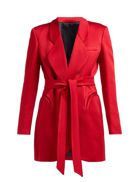Blazé Milano - Royal Delight Double Breasted Crepe Blazer - Womens - Red