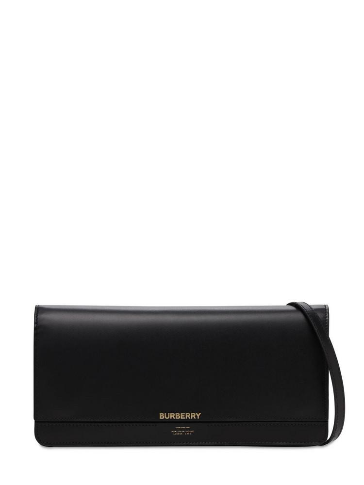 BURBERRY Hooke Leather Shoulder Bag in black