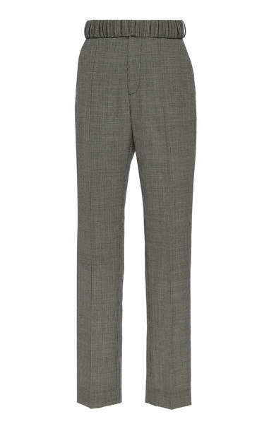 Y/Project Multi-Looped High-Rise Straight-Leg Pants Size: 36 in grey