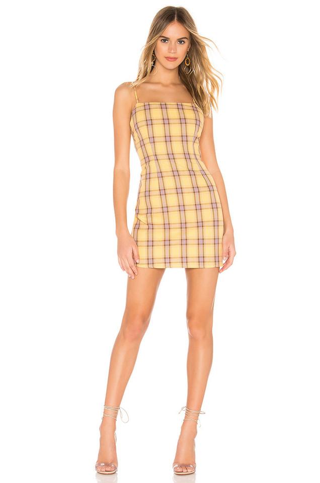 BB Dakota Total Betty Dress in yellow