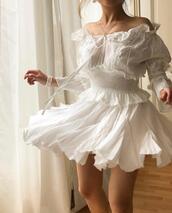 top,dress,white,white dress,summer dress,flowy,flowy dress,pretty