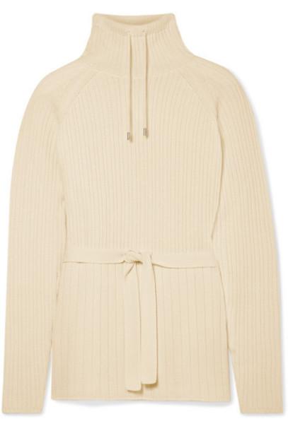 Loro Piana - Ribbed Cashmere Turtleneck Sweater - Cream