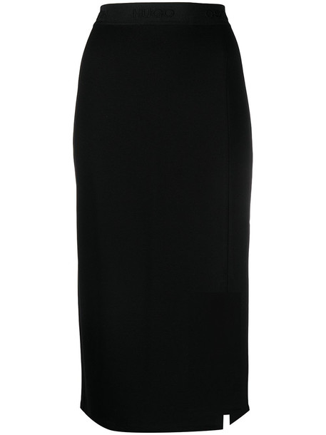 HUGO side slit pencil skirt - Black