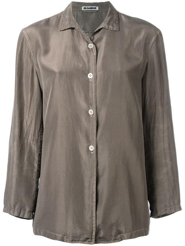 Jil Sander Pre-Owned silk shirt in brown