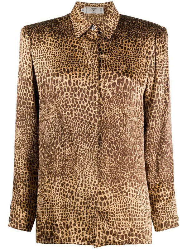 Valentino Pre-Owned 2000s snakeskin print shirt in neutrals