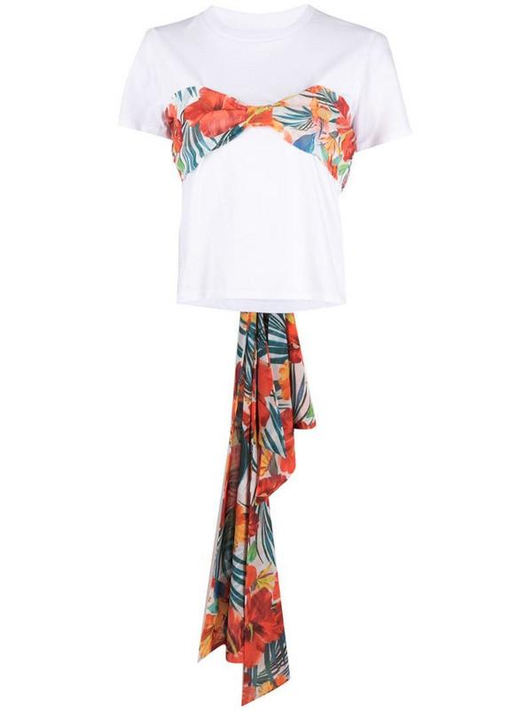 Patrizia Pepe bandeau effect T-shirt in white